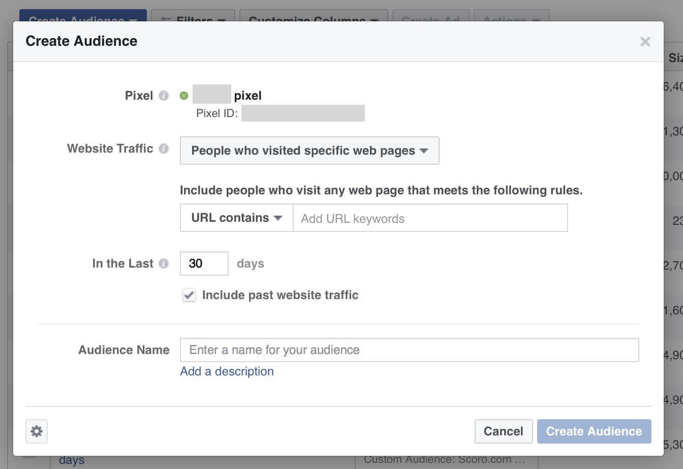 custom audiences for facebook advertising based on website touchpoints remarketing