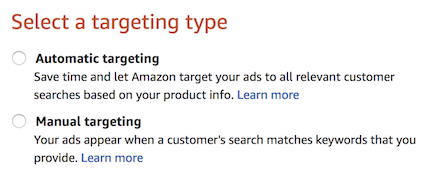 automatic vs manual targeting on amazon