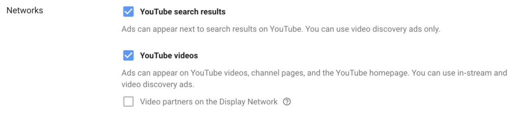 choose youtube networks to be seen on