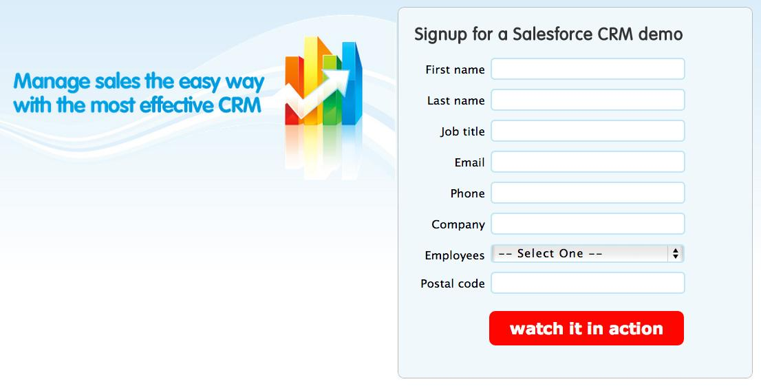 salesforce image points to web form
