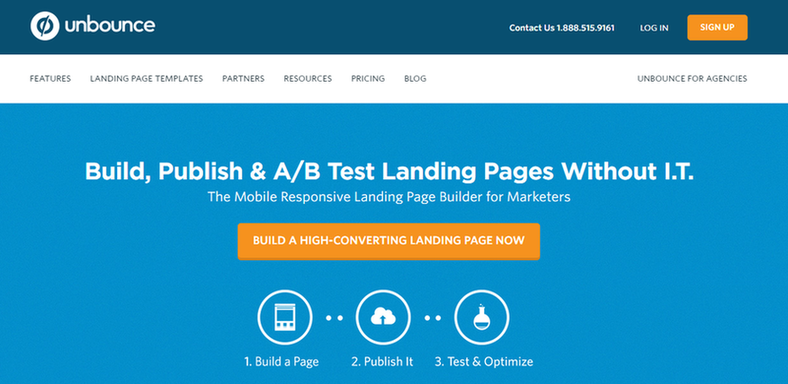 unbounce value proposition example