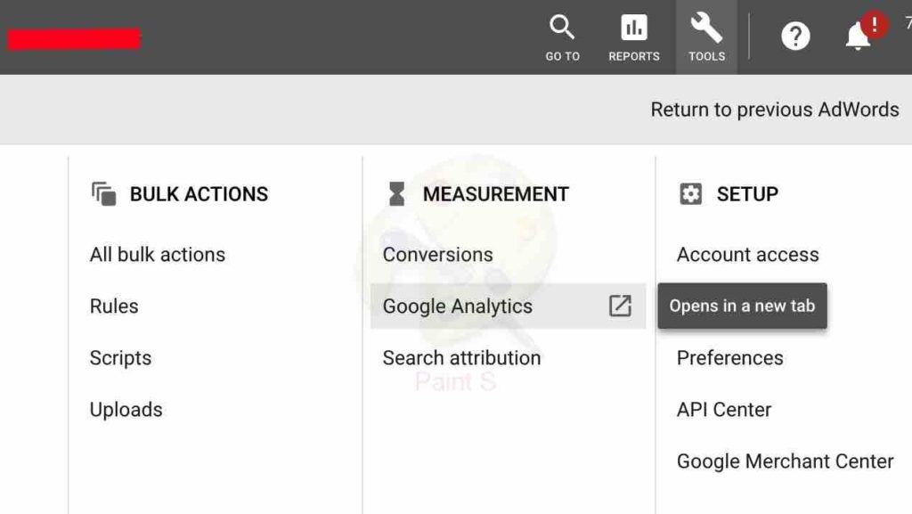 connecting google analytics to adwords