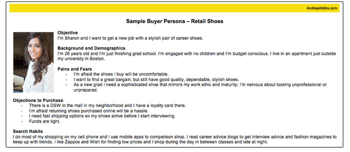 sample buyer persona