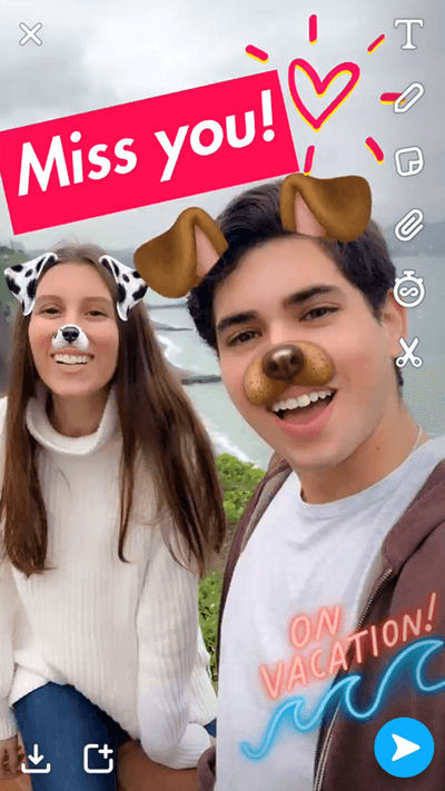 augmented reality for snap pictures