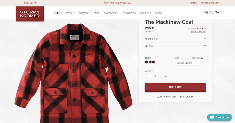 Ecommerce-Product-Pages-Examples-stormy kramer product page feature image