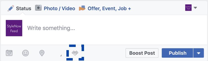 handshake sponsored mentions shopify facebook