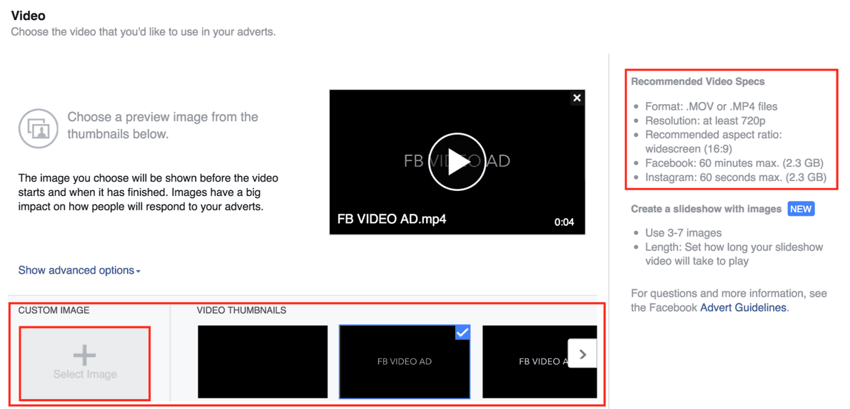 thumbnail prompt facebook video ad neil patel