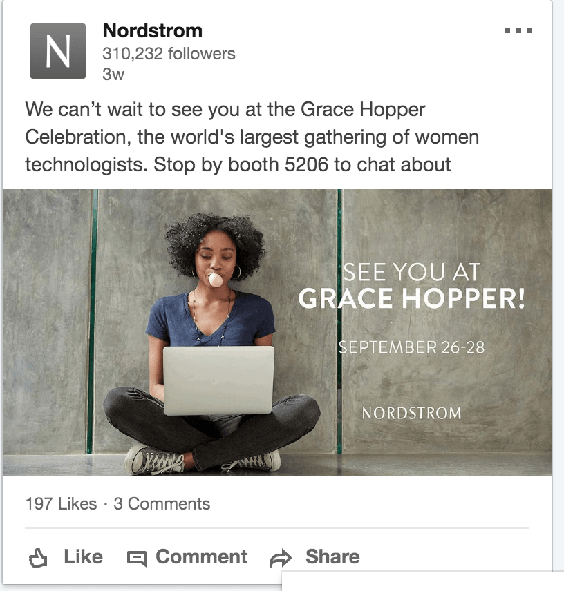 women and technology linkedin nordstrom