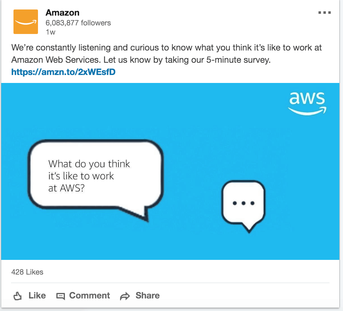 Amazon is great at showcasing new promotions, services, regional offerings
