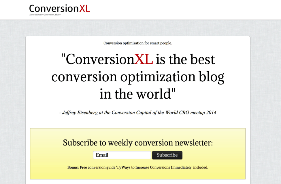 conversion XL - testimonials and social proof