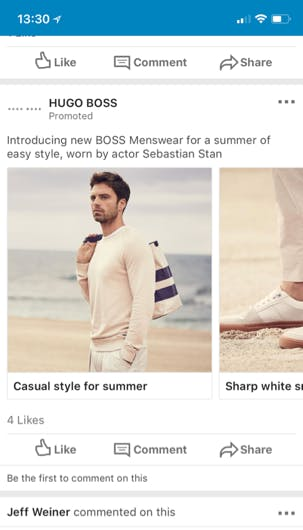 a big reason why retail brands like Hugo Boss can run ads like this confidently