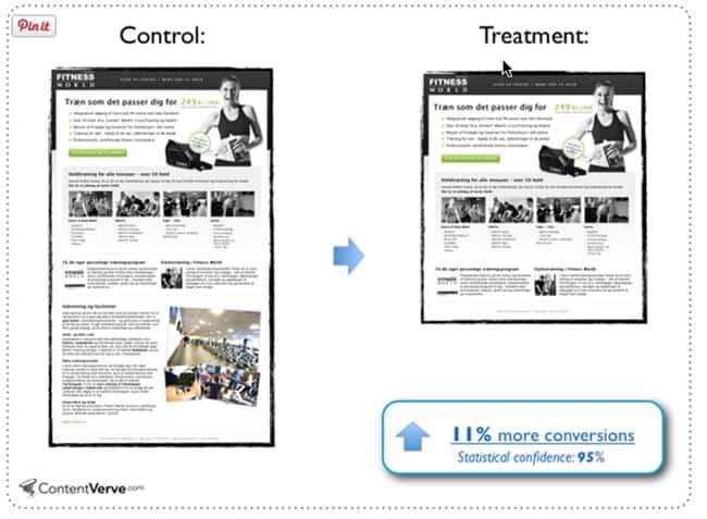 pages length conversion rate via klientboost