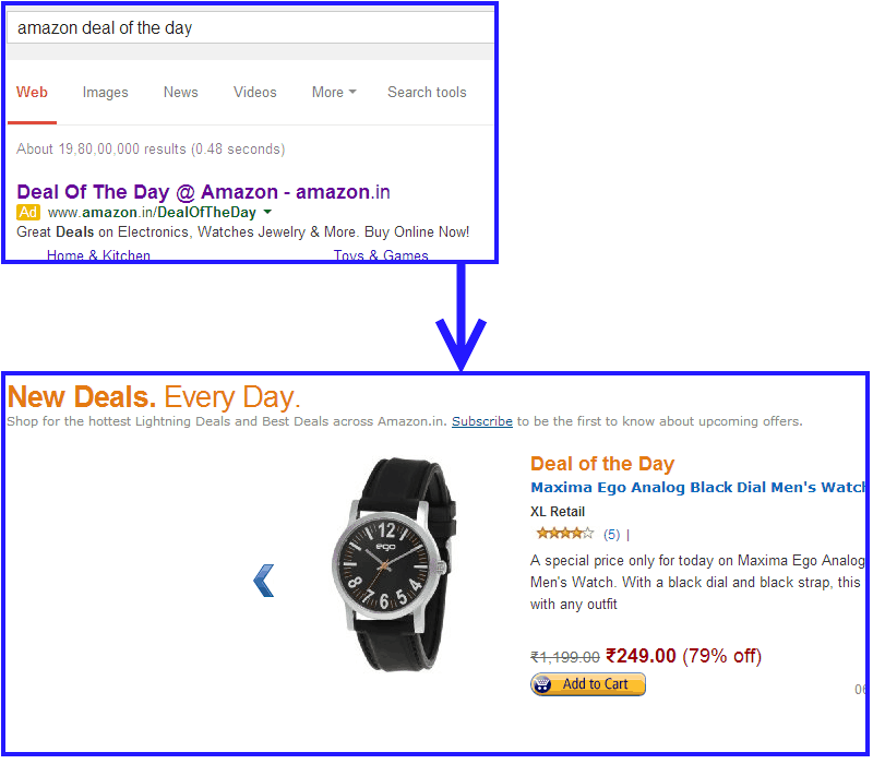 connecting ad copy to landing page messaging